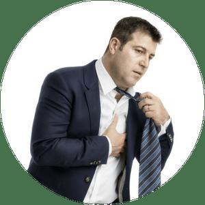 Schädliche Auswirkungen von Stress: Herzprobleme, Bluthochdruck, Atemnot