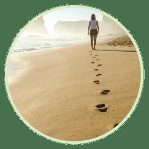 Spaziergang am Meer hilft gegen innere Unruhe
