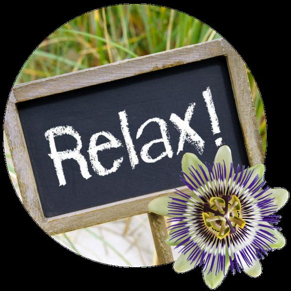 Der Extrakt aus der Passionsblume hilft gegen innere Unruhe, um den Alltag entspannter zu bewältigen.