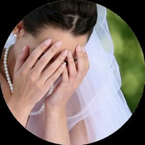 Nervenzusammenbruch vor der Hochzeit