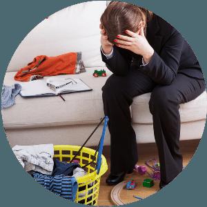 Doppelbelastung durch Job und Familie
